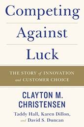 Harvard Business Review Clayton Christensen marketing book report POSMarketing Competing Against Luck